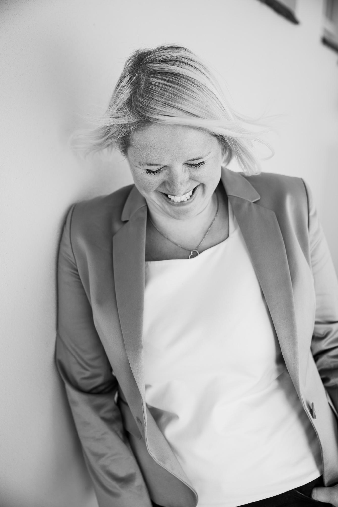 Kate Laugh BW