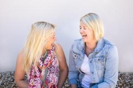 Kate and Sam Laugh colour
